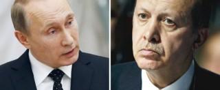 """Isis, Putin: """"Serve una coalizione a guida Onu"""". E sul caccia abbattuto: """"Turchia si pentirà"""". Erdogan: """"Affari russi con Isis"""""""