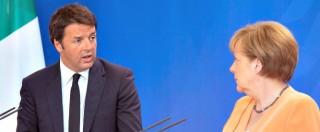 """Banche, Merkel gela Renzi: """"Abbiamo già concesso flessibilità all'Italia. Non possiamo discutere ancora le regole"""""""