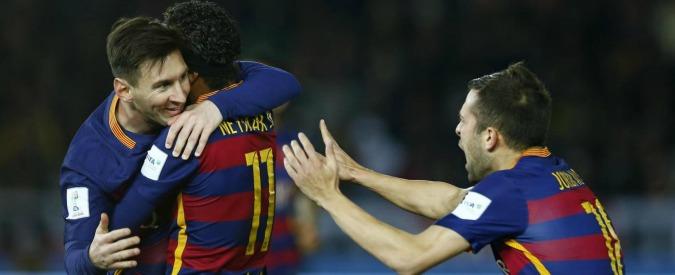 Mondiale per club, Barcellona-River Plate: 3 a 0. Doppietta Suarez e show di Messi