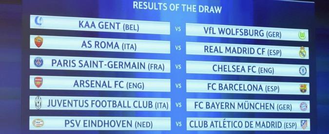 Sorteggi ottavi Champions League, Roma-Real Madrid e Juventus-Bayern Monaco