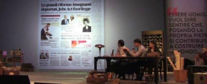 Leopolda, i renziani mettono alla berlina la libertà di stampa. E indicano il nemico numero 1: il Fatto Quotidiano