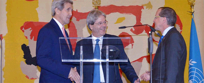 """Roma, Kerry: """"Governo di unità nazionale in Libia entro 40 giorni. Sarà a Tripoli"""""""