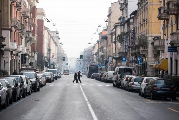 Blocco del traffico per lo smog a Milano