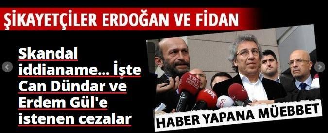 """Turchia, inchiesta su armi in Siria: chiesto ergastolo per direttore e caporedattore quotidiano di opposizione. """"Spionaggio"""""""