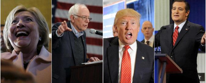 Primarie Usa 2016, la corsa per la Casa Bianca parte in Iowa: gli 'anti-sistema' Trump e Sanders sfidano Hillary Clinton
