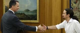 """Spagna, Rajoy verso incarico. Prove di alleanza Psoe-Podemos. Iglesias al re: """"Noi pronti a governo di cambiamento"""""""