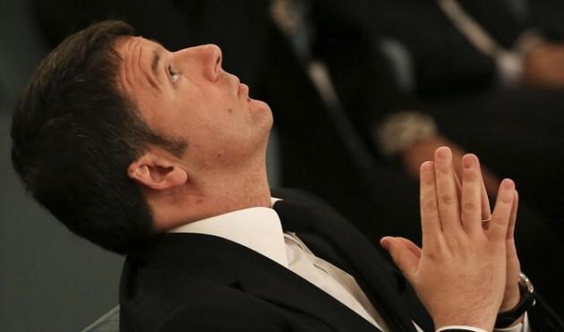 Matteo Renzi alla Reggia di Caserta