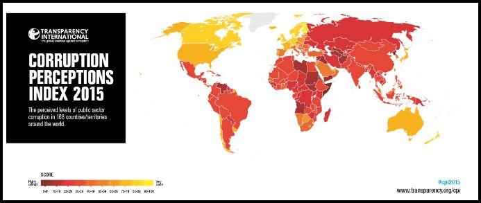 """Rapporto corruzione 2015, Transparency: """"Italia penultima in Unione europea e 61esima al mondo"""""""