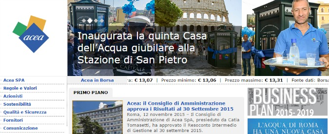 """Bollette dell'acqua, Antitrust multa Acea e le campane Gori, Citl e Publiservizi: """"Pratiche commerciali scorrette"""""""