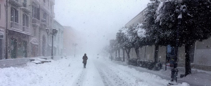 Campobasso, continua lo sciame sismico e arriva la neve. Lunedì scuole chiuse