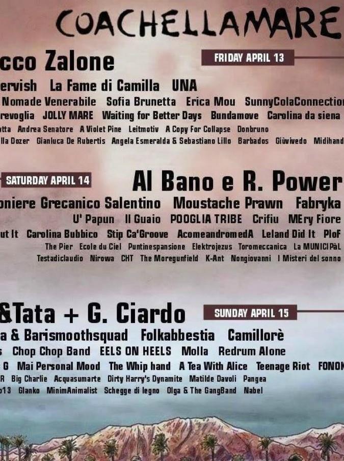 Coachellamare Festival, come una goliardata su Facebook rischia di diventare una vera kermesse musicale