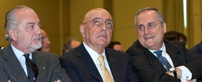 Calcio, inchiesta per evasione e fatture false coinvolge i big. 64 indagati: anche Galliani, De Laurentiis e Lotito