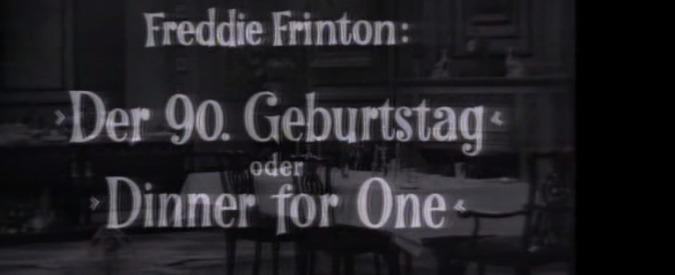 San Silvestro, il Dinner for One vero rito per i tedeschi dal 1963