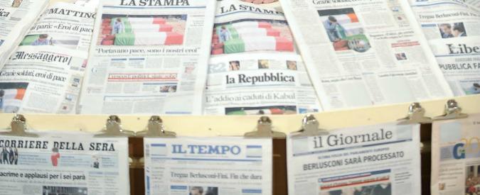 """Editoria, Mediobanca: """"In cinque anni ricavi calati del 32% e 4.500 posti di lavoro persi nei nove maggiori gruppi"""""""