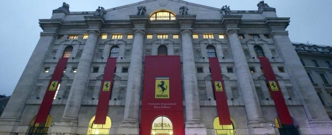 """Ferrari, in rosso la prima settimana a Piazza Affari. Chi a dicembre aveva 1000 azioni Fiat Chrysler """"perde"""" 1.500 euro"""