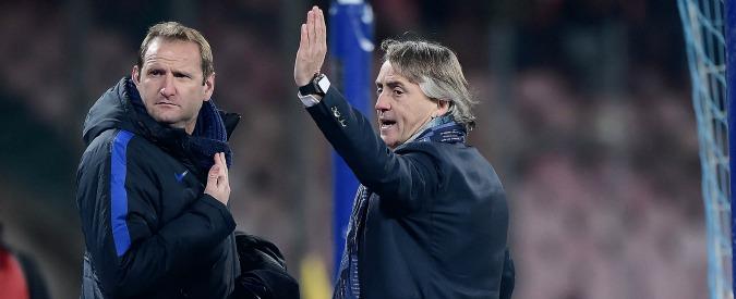 """Mancini: """"Sarri non ha offeso me, ma tante persone insultate così ogni giorno. E De Laurentiis? Niente da dichiarare?"""""""