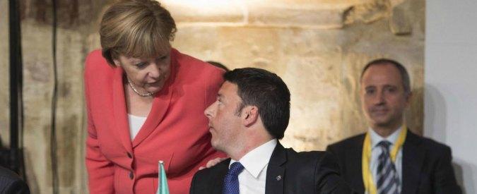 """Migranti, Renzi-Merkel: """"Posizione dell'Austria anacronistica. No a frontiere chiuse, mantenere Schengen"""""""