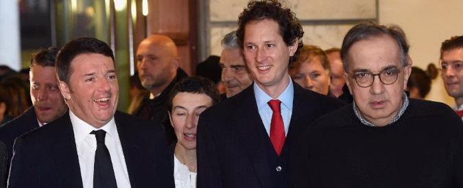 Ferrari, Renzi al debutto a Piazza Affari con Marchionne e Elkann. Ma il Cavallino (già quotato a New York) parte lento