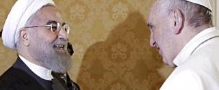 """Papa incontra Rohani: """"Preghi per me"""". Il presidente iraniano: """"Proteggere chiese e sinagoghe"""""""