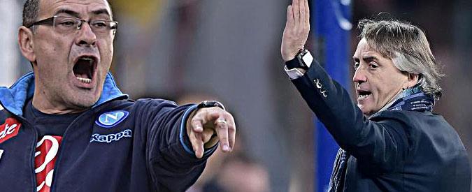 """Mancini-Sarri, due giornate di squalifica all'allenatore del Napoli per gli insulti. Il giudice: """"Pesanti, ma non omofobi"""""""