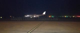 """Air Force Renzi, arrivato in Italia il nuovo Airbus per i viaggi istituzionali: """"Permetterà viaggi più lunghi senza scali"""""""