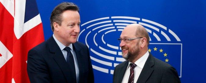 """Brexit, Schulz avverte Cameron: """"Accordo Londra-Bruxelles valido solo con ok del Parlamento Ue"""""""