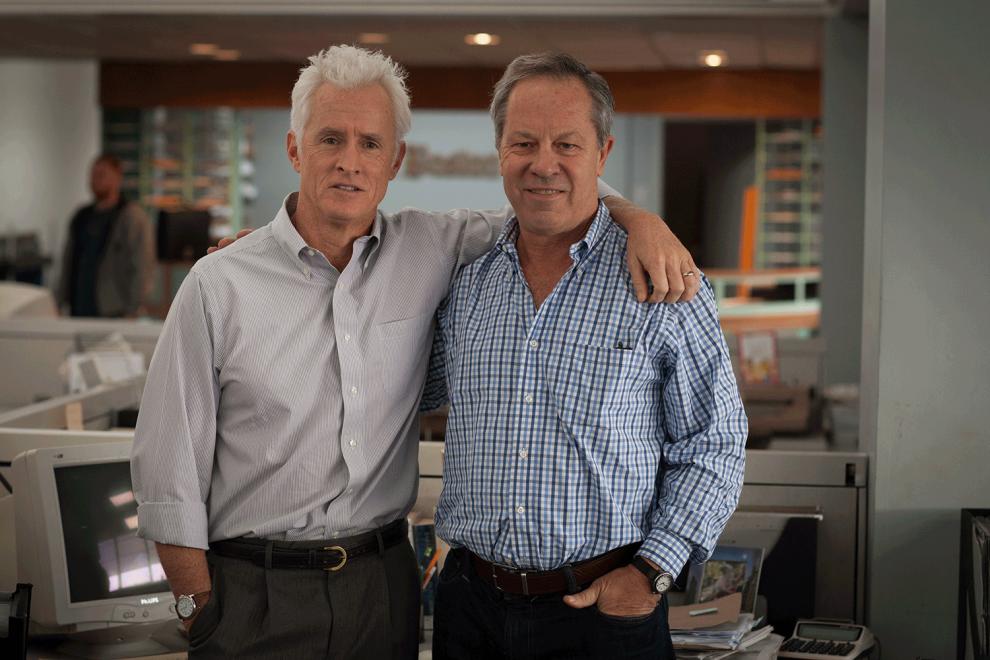 John Slattery con il giornalista Ben Bradlee Jr.