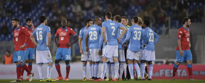 """Serie A, 23° turno: Lazio-Napoli sospesa per cori razzisti. Sarri: """"Scelta giusta"""". Pioli: """"Non avrei fermato la gara"""" – Video"""