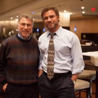 Liev Schreiber con il giornalista Marty Baron