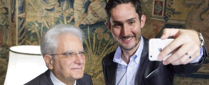 Mattarella, il Quirinale si fa social. Il presidente si fa il selfie con l'ad di Instagram e apre account ufficiale