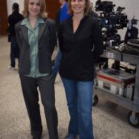Rachel McAdams con la giornalista Sacha Pfeiffer