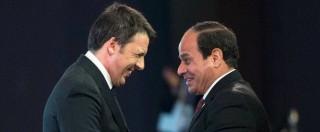 """Regeni, il senso di Renzi per Abd Al Sisi: chiama """"grande statista"""" il 'Pinochet delle Piramidi' che reprime dissenso nel sangue"""