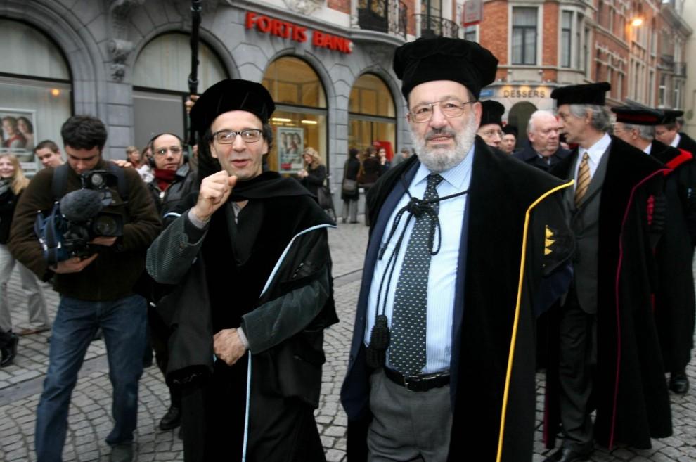 Roberto Benigni e Umberto Eco