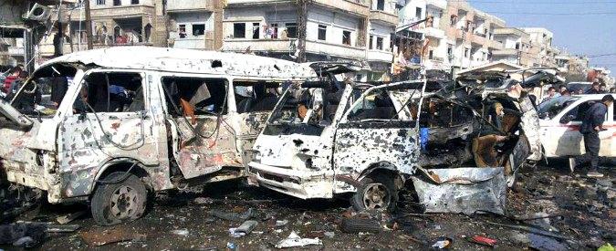 """Siria, bombe in serie a Damasco e Homs. 142 morti. Media: """"Opera di Isis"""". Kerry: """"Accordo provvisorio per tregua"""""""