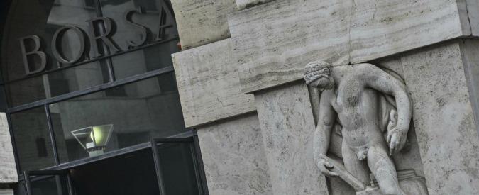 Borsa, Piazza Affari chiude a -2,85% e scende ai minimi da settembre 2013. Ancora giù le banche
