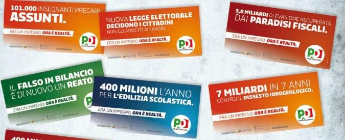 Governo Renzi, la pubblicità sui primi due anni (e in vista delle amministrative) pagata con i soldi del Parlamento