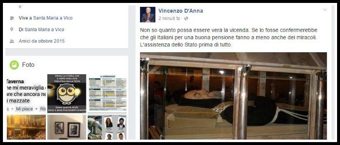 """Il verdiniano D'Anna condivide e commenta su Facebook: """"Italiani opportunisti"""". Ma l'articolo è di Lercio"""