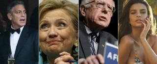 Primarie Usa 2016, Hollywood si schiera: Beyoncè e Clooney per Clinton, Emily Ratajkowski twitta #FeelTheBern
