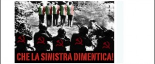 """Foibe, Storace su Twitter: """"La sinistra dimentica"""". Ma nella foto sono gli italiani a fucilare gli jugoslavi"""