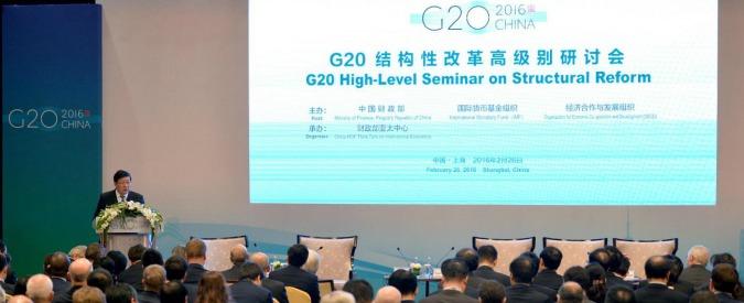 """Crescita, G20: """"Rischi da Brexit e crisi dei migranti"""". Ma non passano misure di stimolo comuni"""