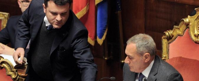 """Unioni civili, Grasso: """"Supercanguro inammissibile? Può essere"""". Cirinnà: """"Votare tutto? Ci vorrebbero 166 giorni"""""""