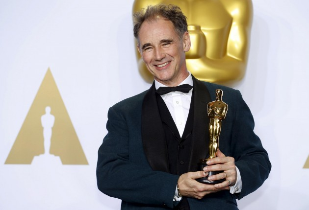 "Mark Rylance, winner of the Oscar for Best Supporting Actor for the movie ""Bridge of Spies"""
