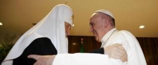 """Papa Francesco a Cuba, incontro storico con il Patriarca di Mosca: """"Siamo fratelli"""""""