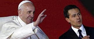 """Bergoglio in Messico: """"No a corruzione e narcotraffico. Casa, lavoro e cibo per tutti"""""""