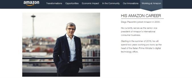 Digitale e innovazione, Renzi nomina il vicepresidente di Amazon Diego Piacentini commissario del governo