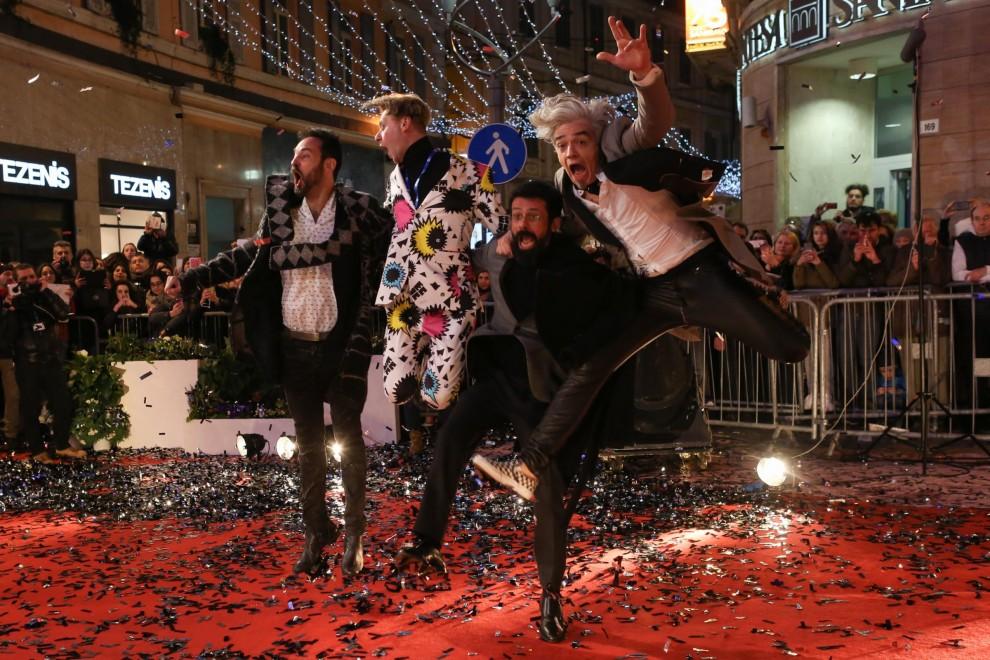 Red carpet del Festival della Canzone Italiana di Sanremo – Bluvertigo