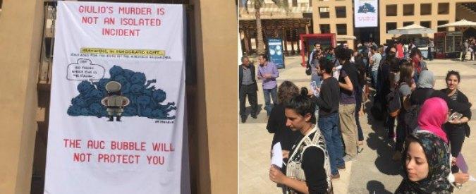 Giulio Regeni, la vignetta di Natangelo sugli striscioni degli studenti egiziani contro al Sisi
