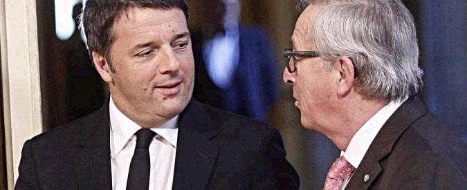 Renzi-Juncker, scoppia la pace sulla flessibilità. Ma intanto Bruxelles boccia Italia su debito, spesa e fuga cervelli