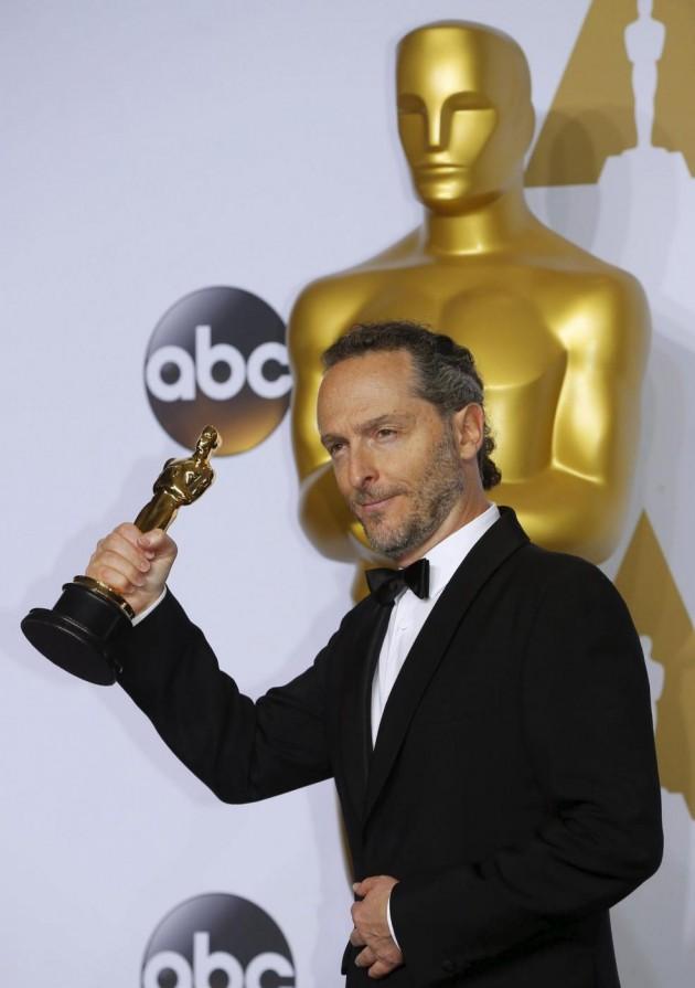 """Emmanuel Lubezki, winner for Best Cinematography for """"The Revenant"""""""