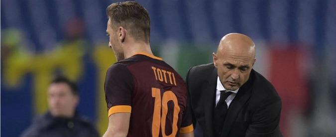 Totti cacciato da Spalletti – Gassmann: 'Sarai sempre il Capitano', Venditti: 'Tristezza', De Sisti: 'È la Roma a perdere'